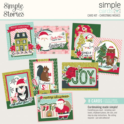 """Simple Stories """"Simple Cards"""" Card Kit: Christmas Wishes"""