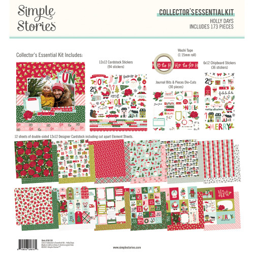 Simple Stories Holly Days Collector's Essential Kit
