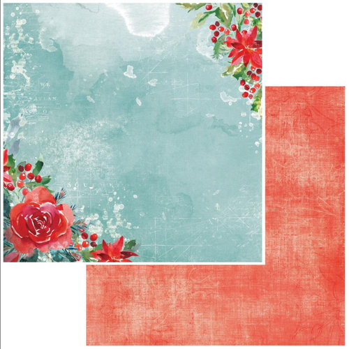 49 and Market Vintage Artistry 12x12 Paper: Peace & Joy | Wishes