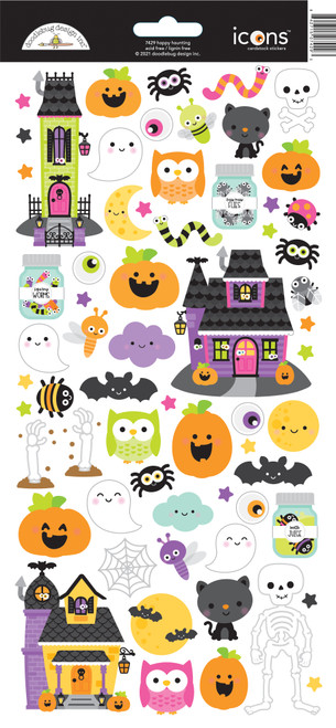 Doodlebug Happy Haunting Stickers: Icons