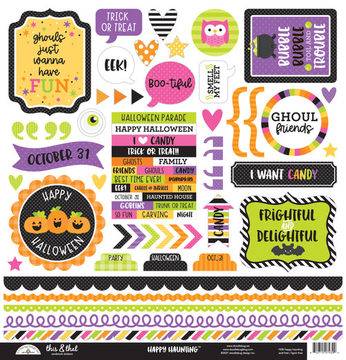 Doodlebug Happy Haunting Stickers: This & That