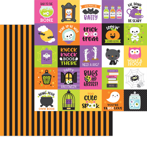 Doodlebug Happy Haunting 12x12 Paper: Bewitched