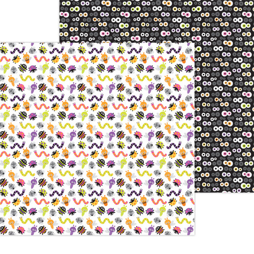 Doodlebug Happy Haunting 12x12 Paper: Bugs & Hisses