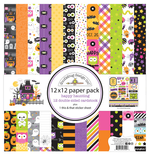 Doodlebug Happy Haunting 12x12 Paper Pack
