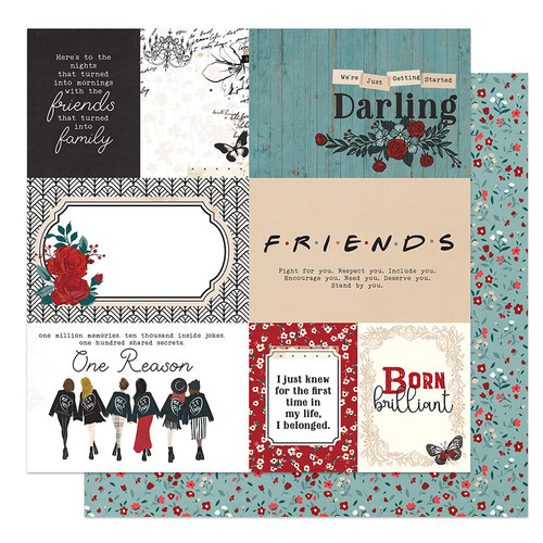 PhotoPlay Friendship Through the Years 12x12 Paper: We Belong