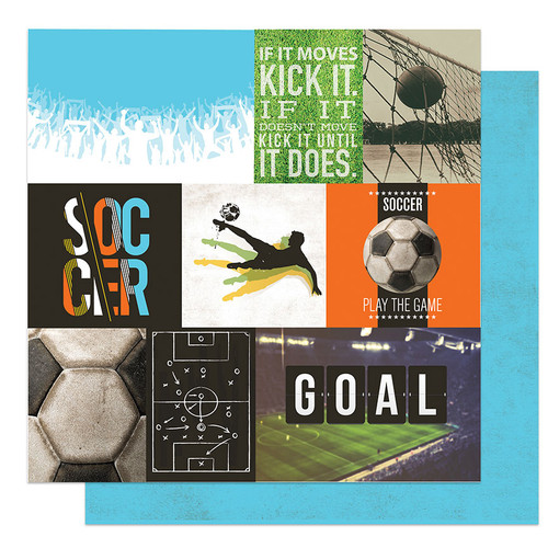 ColorPlay MVP Soccer 12x12 Paper: Kick It Cards