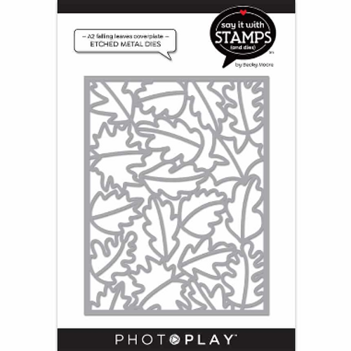 PhotoPlay Say It With Stamps: A2 Falling Leaves Coverplate Die
