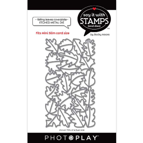 PhotoPlay Say It With Stamps: #6 Falling Leaves Coverplate Die
