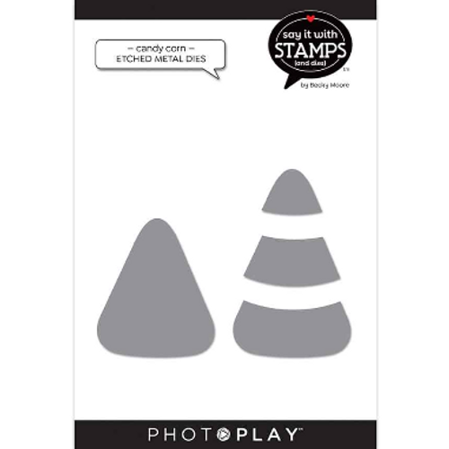 PhotoPlay Say It With Stamps: Candy Corn Etched Metal Dies