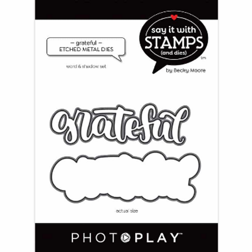 PhotoPlay Say It With Stamps: Grateful Etched Metal Dies