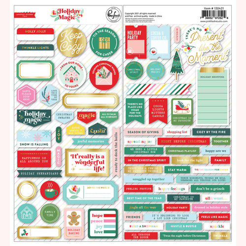 Pinkfresh Studio Holiday Magic: Cardstock Stickers