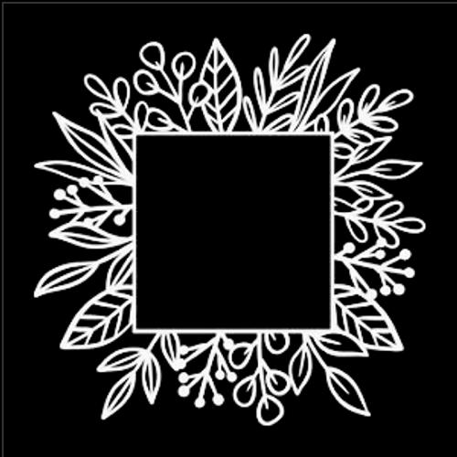 SG 12x12 Cardstock Diecuts: Leaf Square Frame