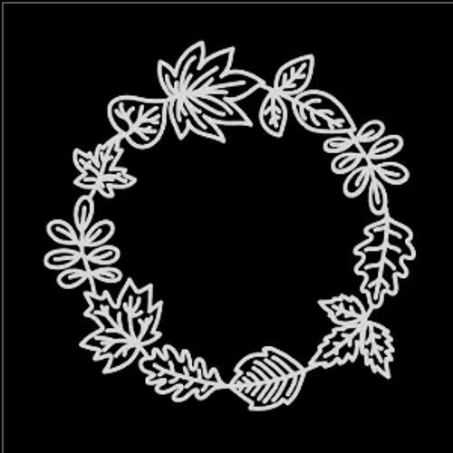 SG 12x12 Cardstock Diecuts: Leaf Wreath