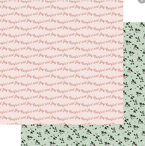 Fancy Pants Home for Christmas 12x12 Paper: Comfort & Joy