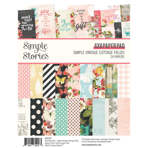 *PREORDER* Simple Stories Simple Vintage Cottage Fields 6x8 Pad