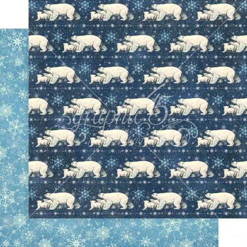 Graphic 45 Let It Snow 12x12 Paper: Polar Bear Prance