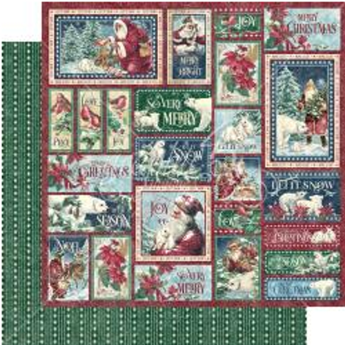 Graphic 45 Let It Snow 12x12 Paper: So Very Merry
