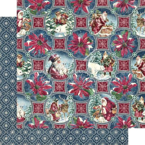 Graphic 45 Let It Snow 12x12 Paper: Christmas Dreams