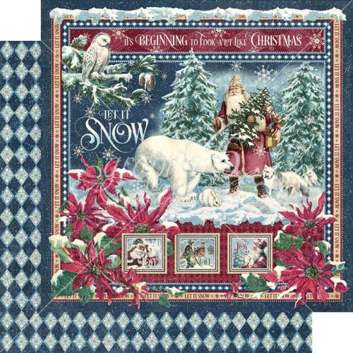 Graphic 45 Let It Snow 12x12 Paper: Let It Snow