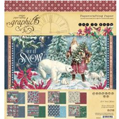 Graphic 45 Let It Snow 8x8 Paper Pad
