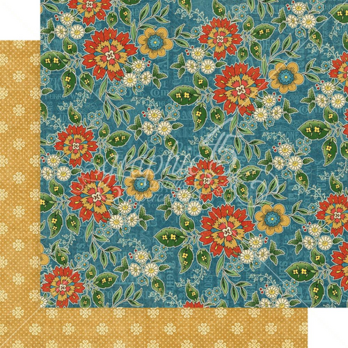 Graphic 45 Come One, Come All 12x12 Paper: Floral Gala