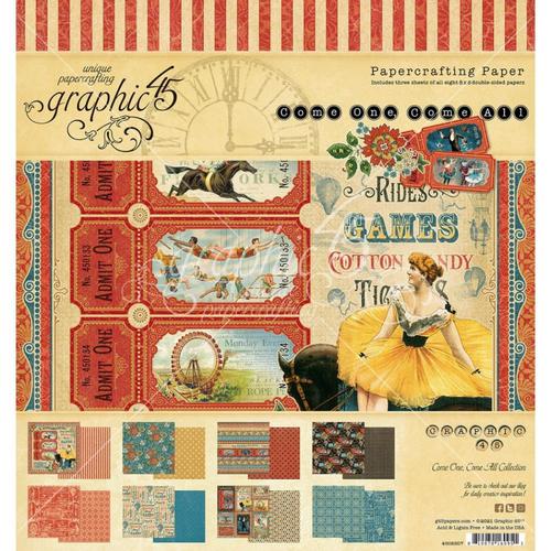 Graphic 45 Come One, Come All 8x8 Paper Pad