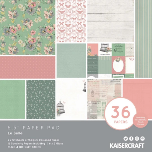 KaiserCraft Le Belle 6.5x6.5 Paper Pad (w/diecuts)