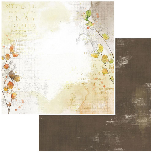 49 and Market Vintage Artistry 12x12 Paper: In the Leaves | Seasoned