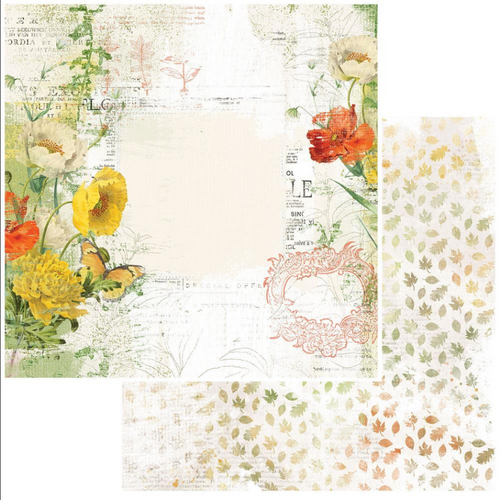 49 and Market Vintage Artistry 12x12 Paper: In the Leaves | Harvest