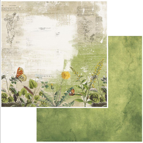 49 and Market Vintage Artistry 12x12 Paper: In the Leaves | Meadow