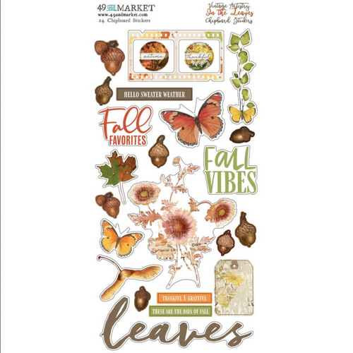 49 and Market Vintage Artistry 6x12 Chipboard Stickers: In the Leaves