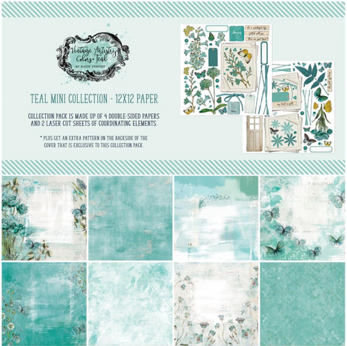 49 and Market Vintage Artistry 12x12 Collection Pack: Teal