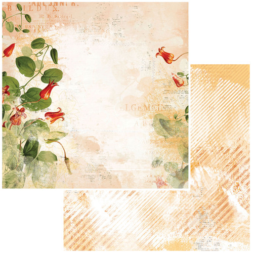 49 and Market Vintage Artistry 12x12 Paper: Mango | Ginger Peach