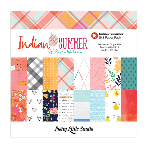 Pretty Little Studio Indian Summer Paper Pack | 8x8 (single-sided)