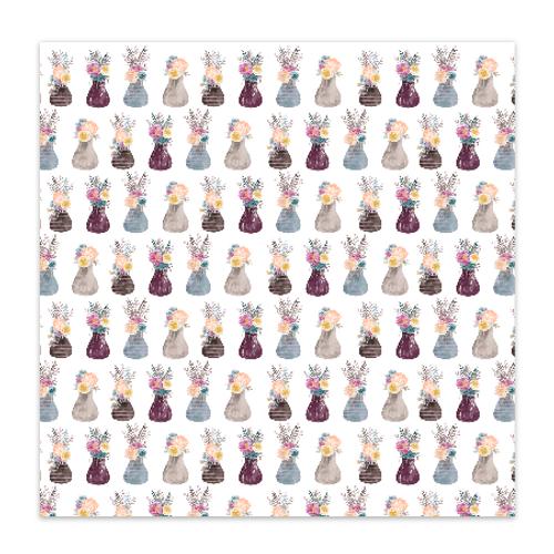 Pretty Little Studio Grateful Heart 8x8 Paper (single sided) | Happy Day