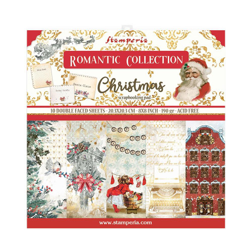 Stamperia 8x8 Paper Pack: Romantic Collection - Christmas