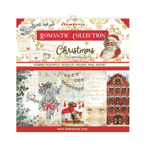 Stamperia 12x12 Paper Pack: Romantic Collection - Christmas