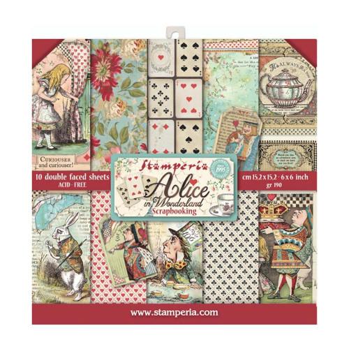 Stamperia 6x6 Paper Pack: Alice In Wonderland