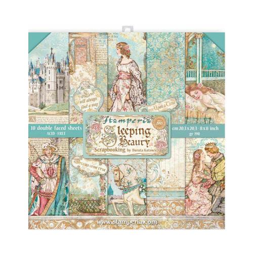 Stamperia 8x8 Paper Pack: Sleeping Beauty