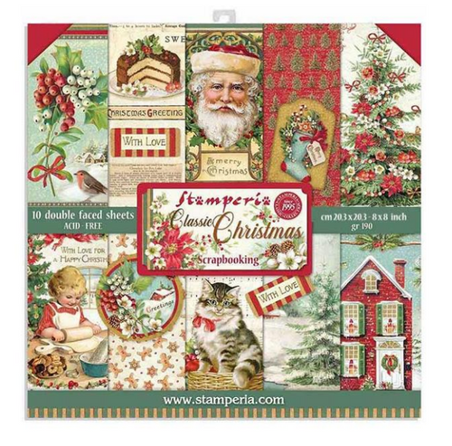 Stamperia 8x8 Paper Pack: Classic Christmas