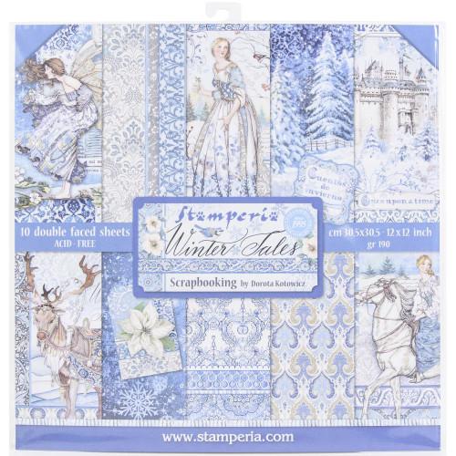 Stamperia 12x12 Paper Pack: Winter Tales