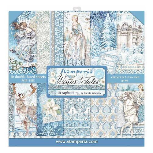Stamperia 6x6 Paper Pack: Winter Tales