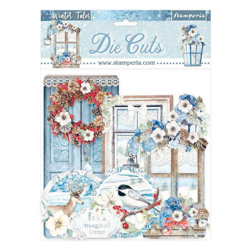 Stamperia Winter Tales Diecuts   Quotes & Labels (34 pcs)