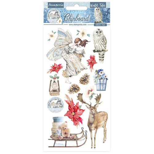 Stamperia Winter Tales Adhesive Chipboard