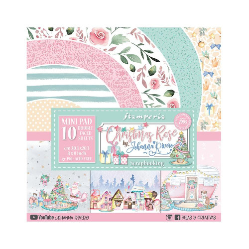 Stamperia 8x8 Paper Pack: Christmas Rose