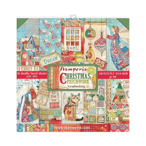 Stamperia 6x6 Paper Pack: Christmas Patchwork