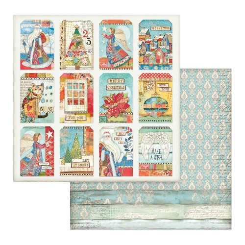 Stamperia 12x12 Christmas Patchwork Paper: 803