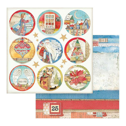 Stamperia 12x12 Christmas Patchwork Paper: 804