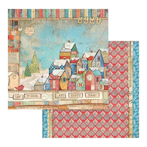 Stamperia 12x12 Christmas Patchwork Paper: 805