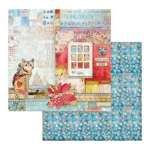 Stamperia 12x12 Christmas Patchwork Paper: 806